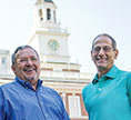 Photo of Gary Clinton '73 and Don Millinger '76. Link to their story.